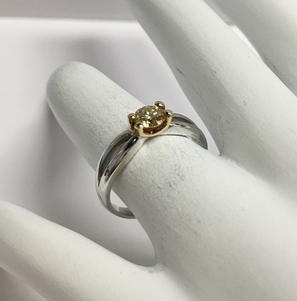 Yellow Diamond White Gold & Yellow Gold Ring