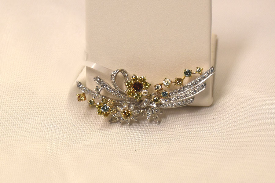 3 Carats Total Weight Diamond Brooch