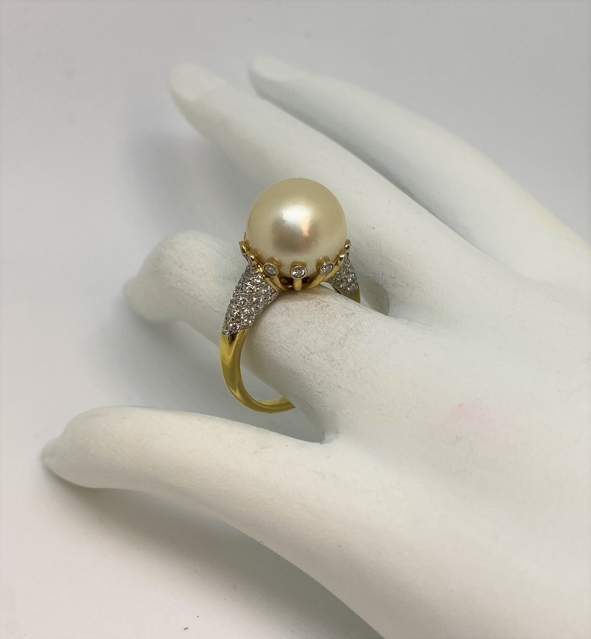 12 Millimeters Golden South Sea Pearl Ring