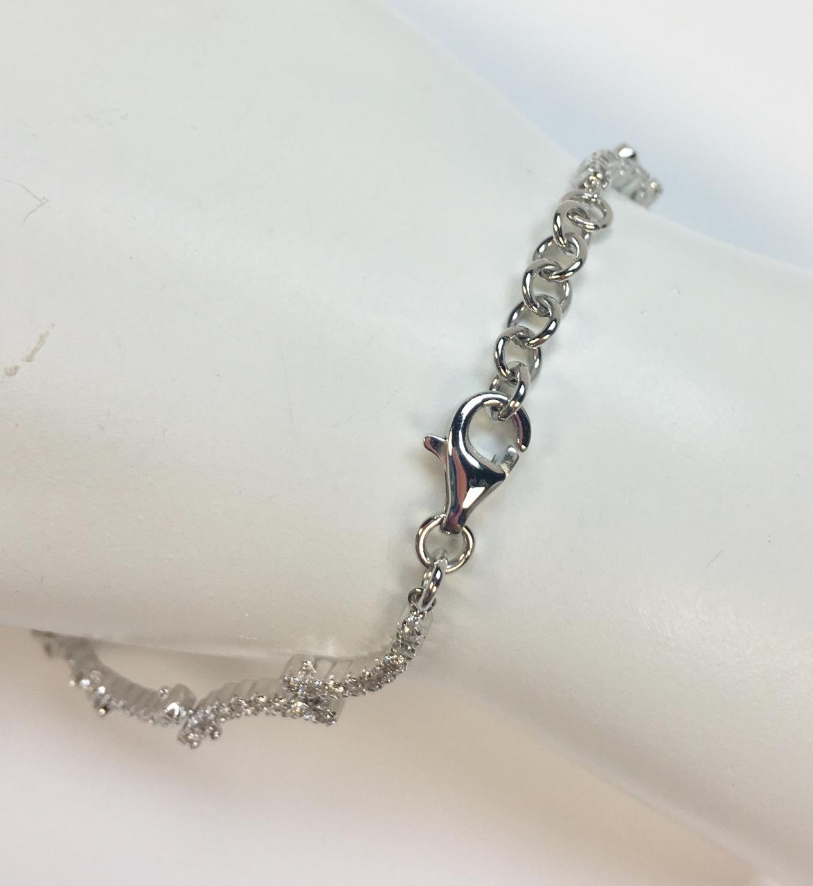 1.50 Carats Diamond Bracelet In White Gold