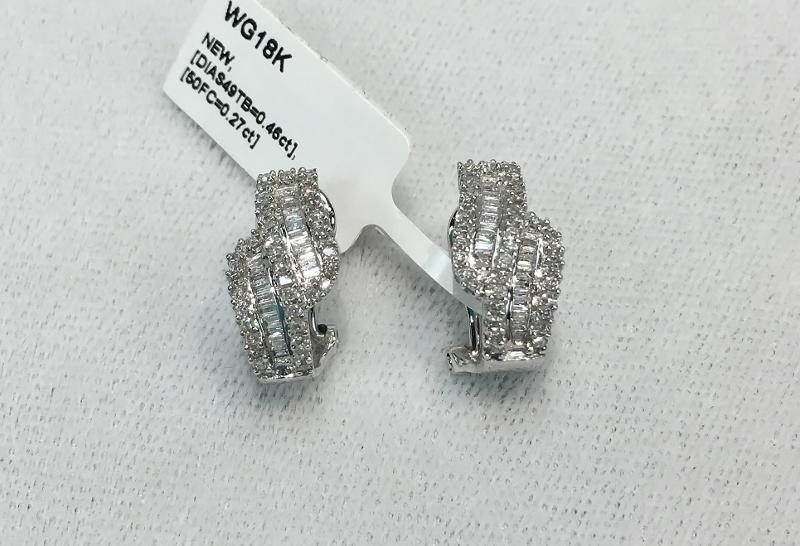 18K WG EARRINGS WITH 100 DIAMONDS- WERE $1,870.00