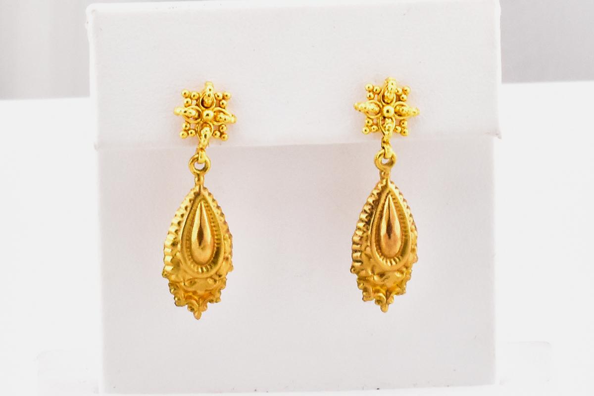 Classy 9K Yellow Gold Earrings