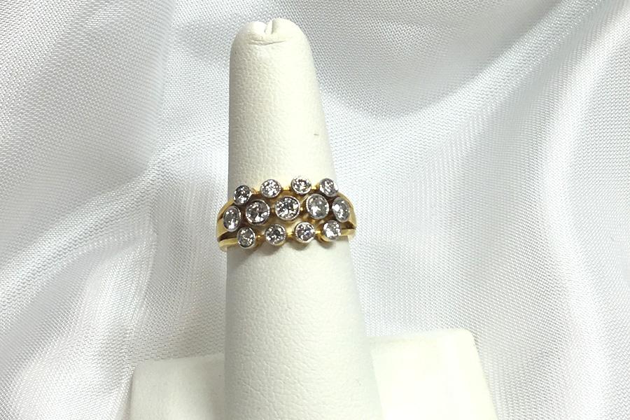 1Carat TW 18K Yellow Gold Diamond Ring