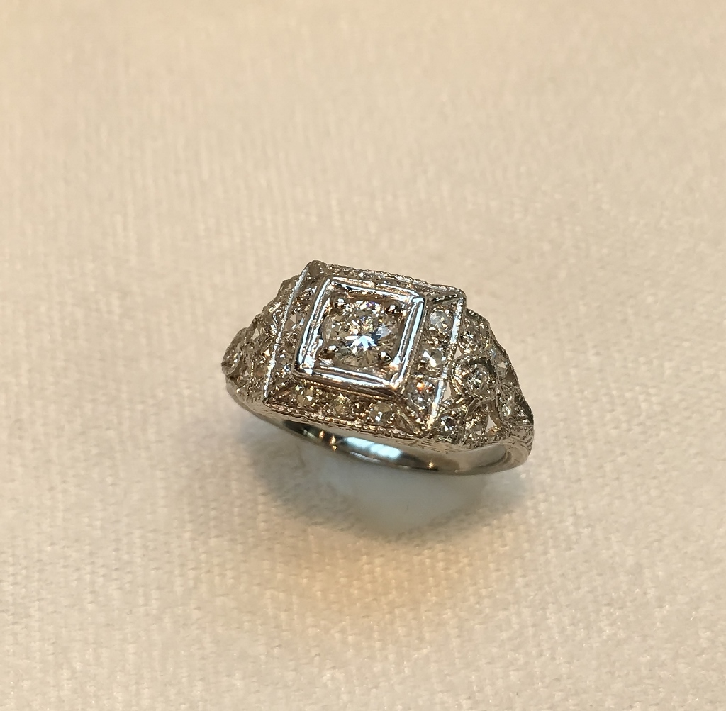 Half Carat Platinum Diamond Ring