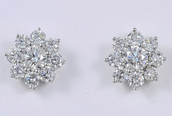 3 Carats Diamond Earrings
