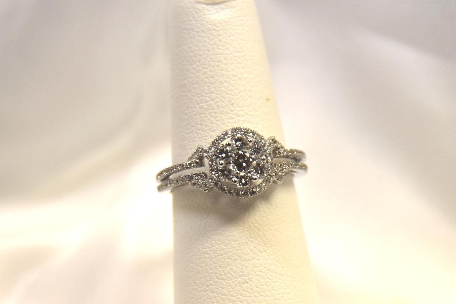 Three Quarters Carat 18K White Gold Diamond Ring