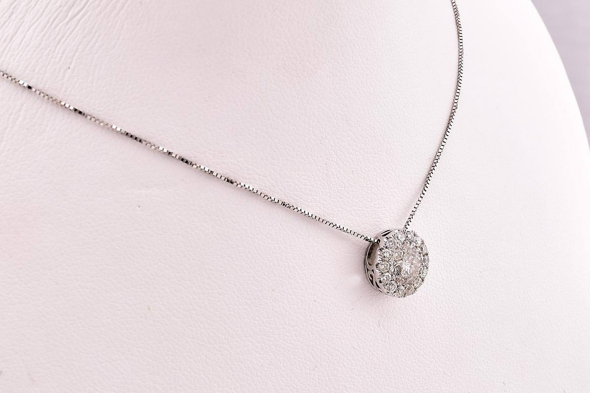 1 Carat Total Weight Diamond Pendant
