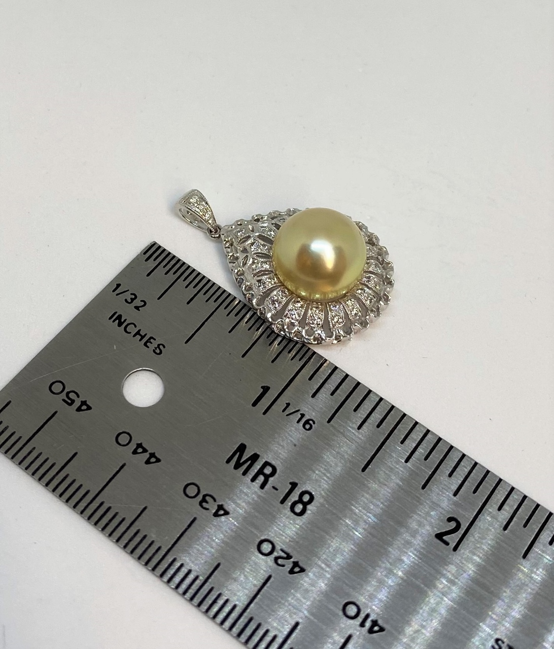 11 Millimeters Golden South Sea Pearl Pendant