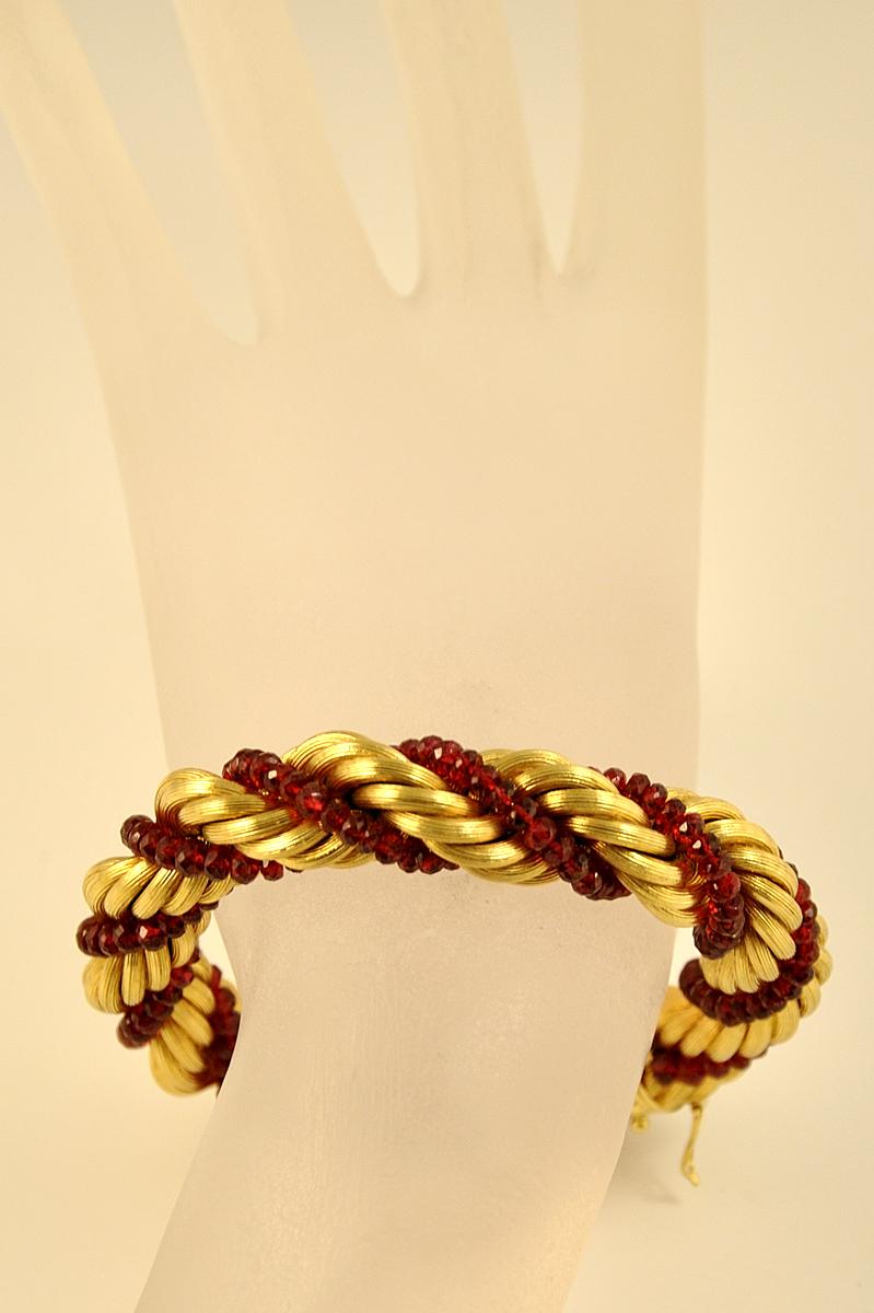 Estate 18K YG Rope Design Bracelet