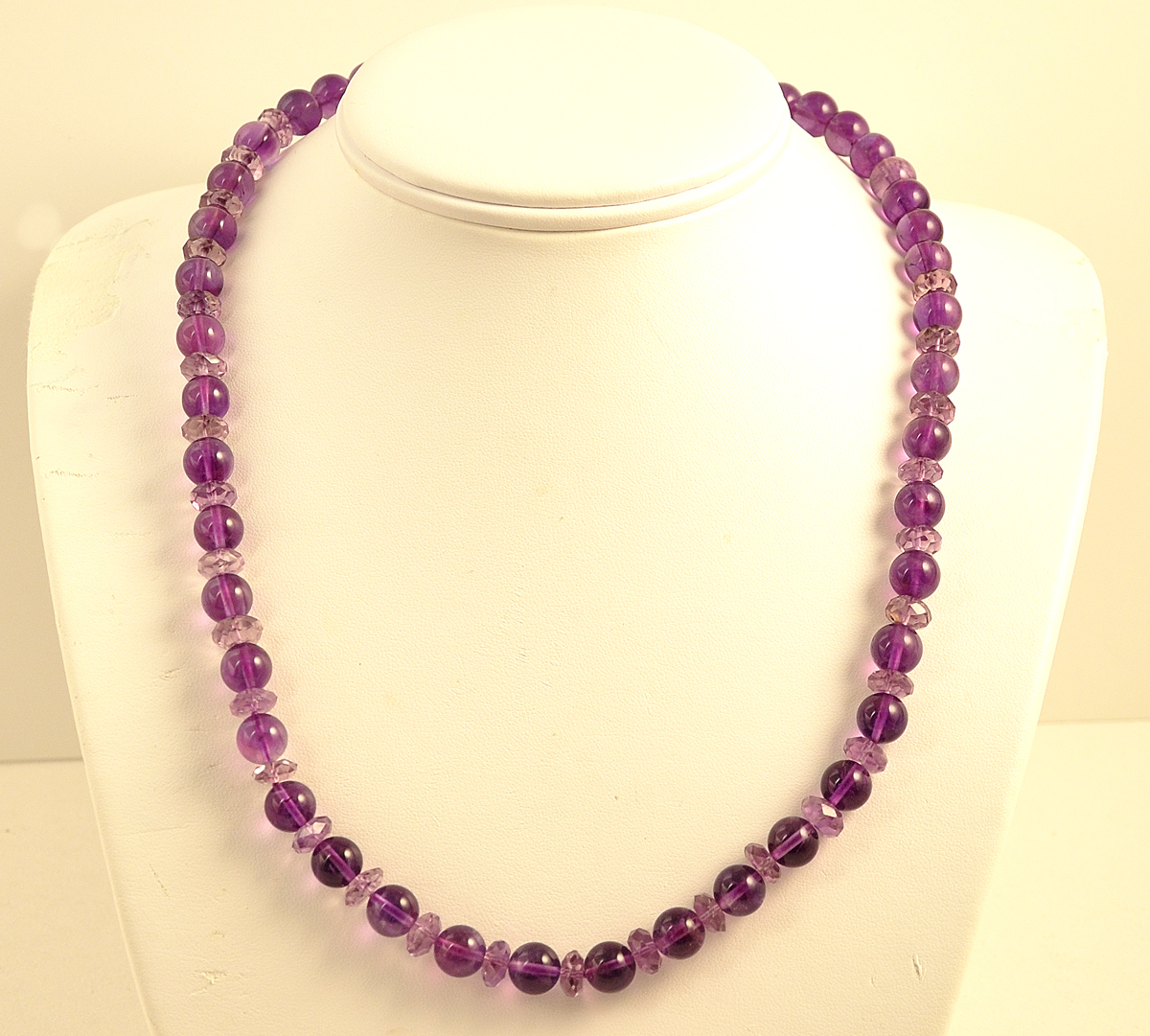 "21"" Amethyst Bead Necklace"