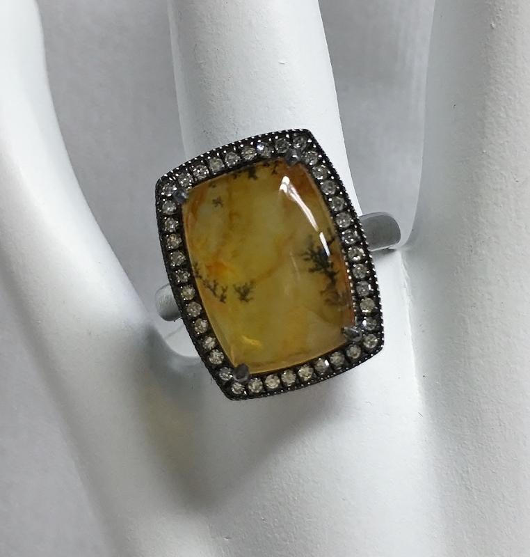 Sterling Silver Dandrite Agate Ring