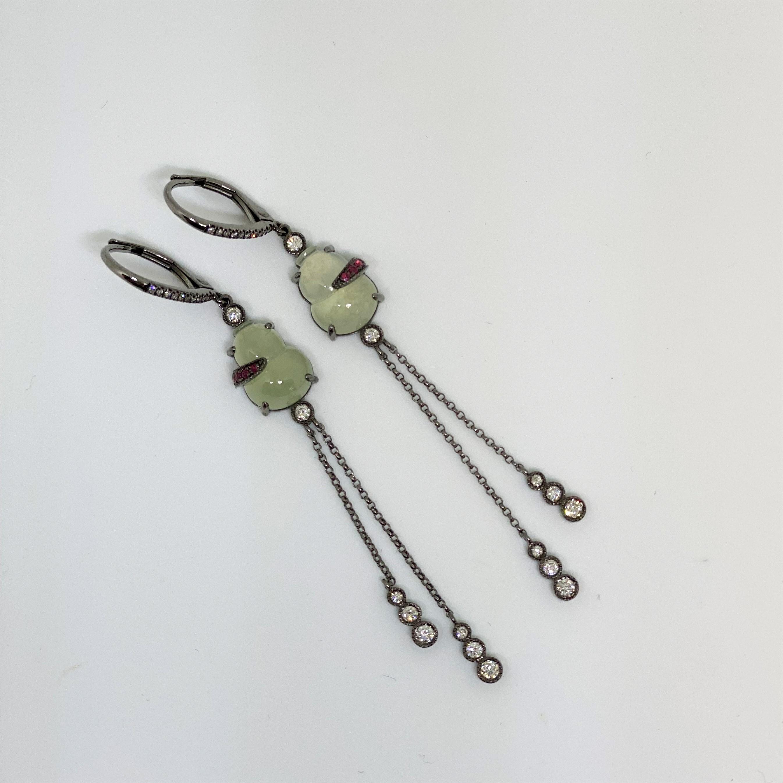 Dangling Natural Jade Earrings