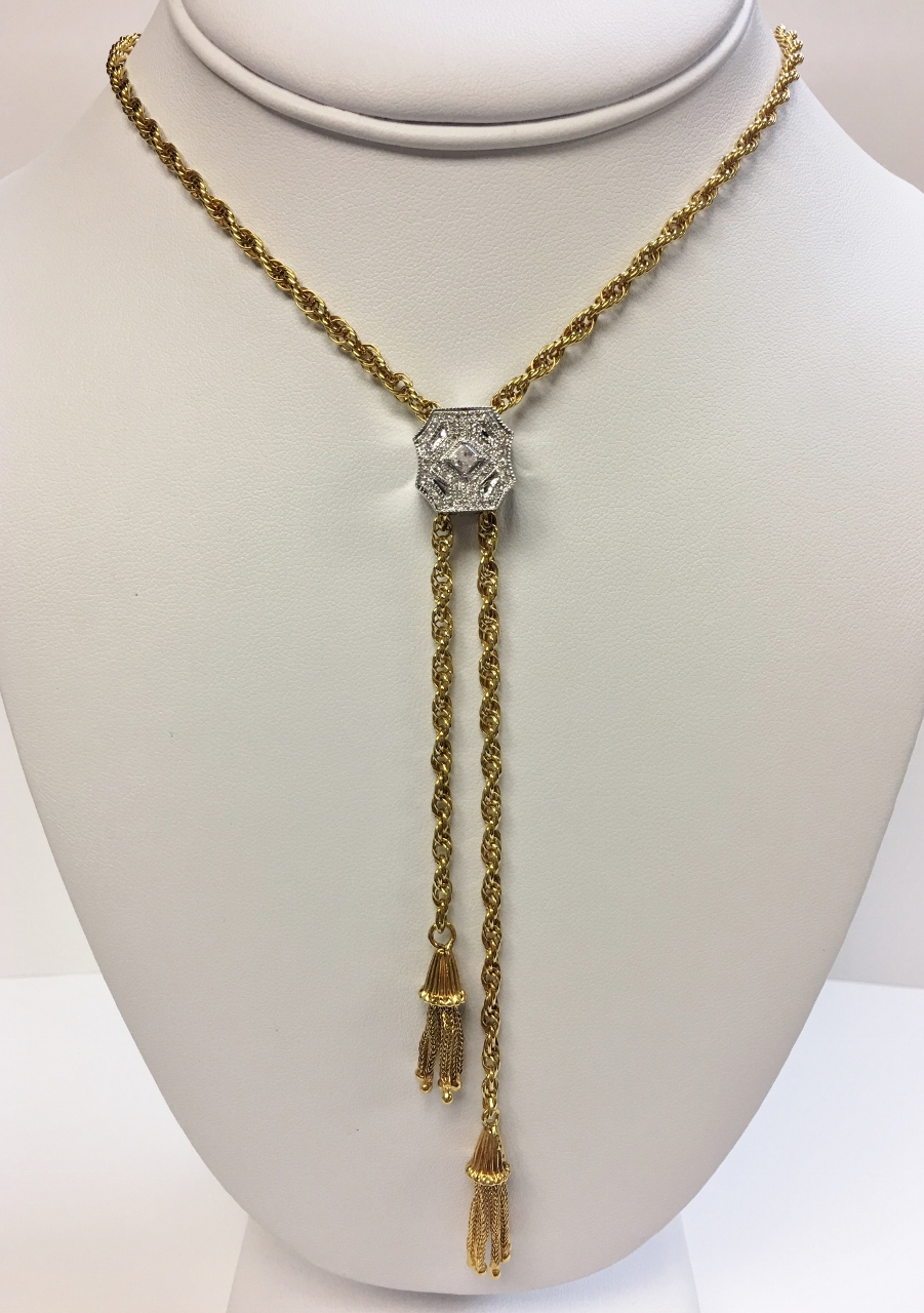 Estate Rope Chain With Diamonds