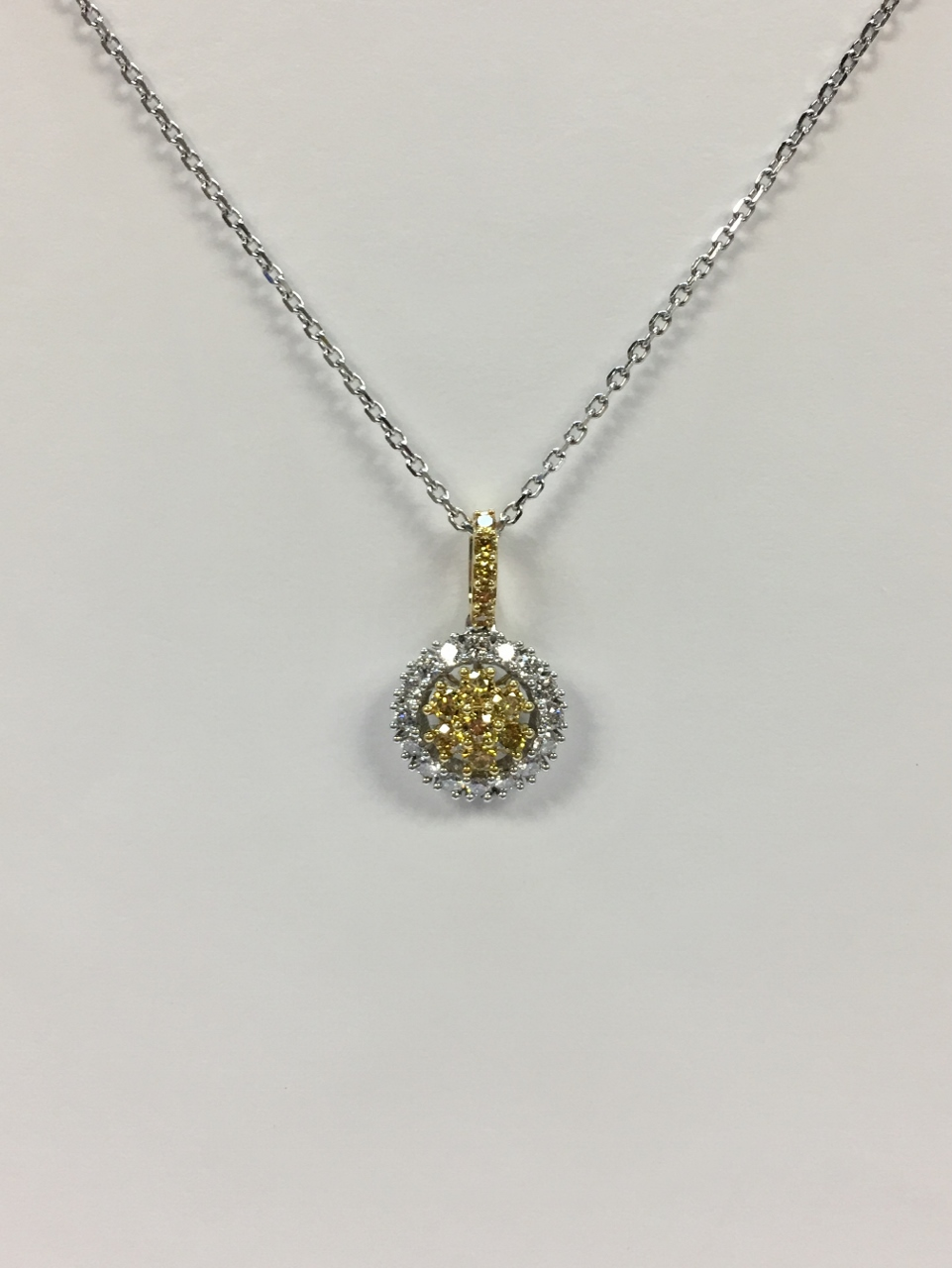 Half Carats TW Diamond Pendant in 18K Gold
