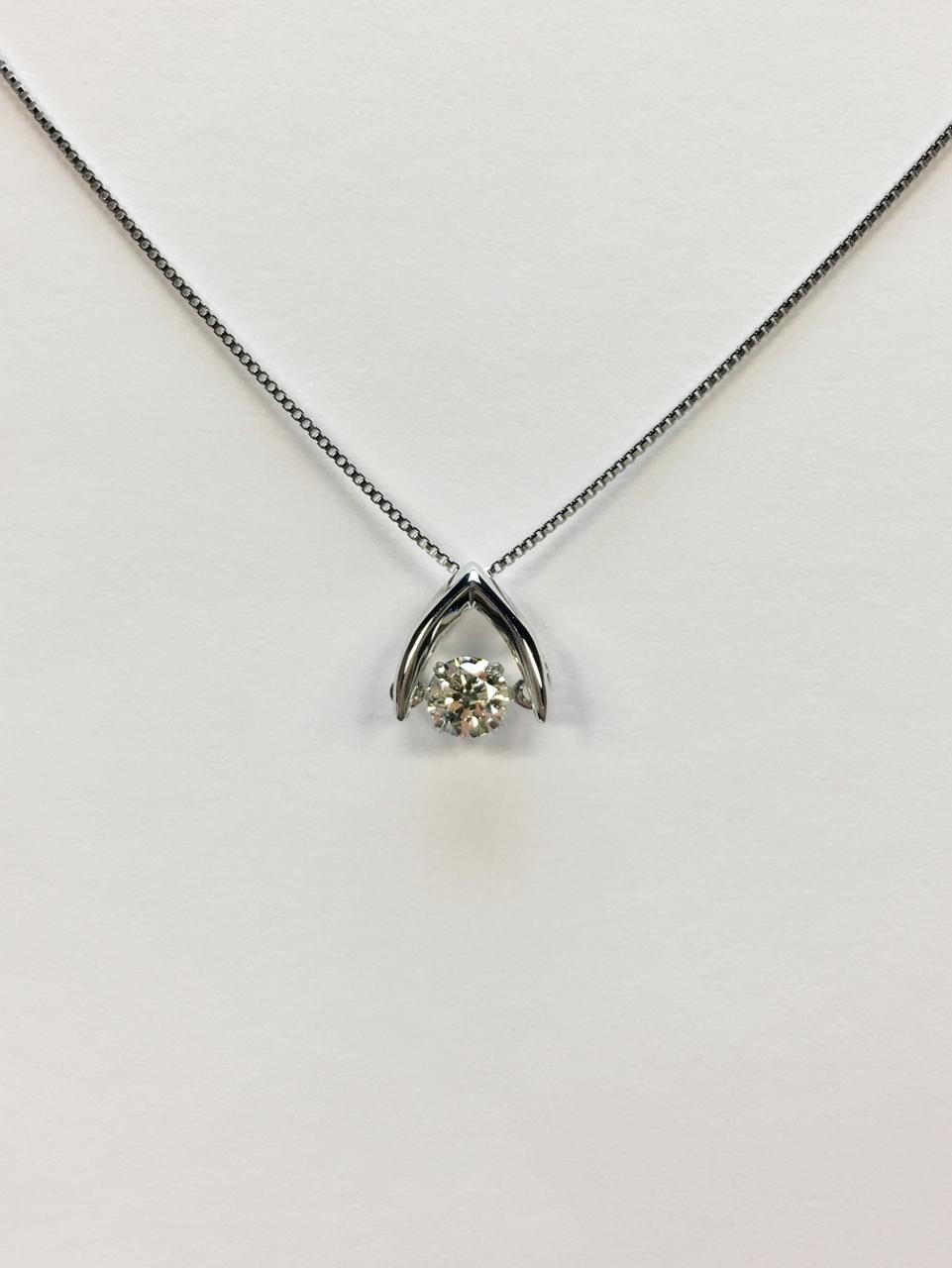 1/5 Carat Platinum Diamond Necklace