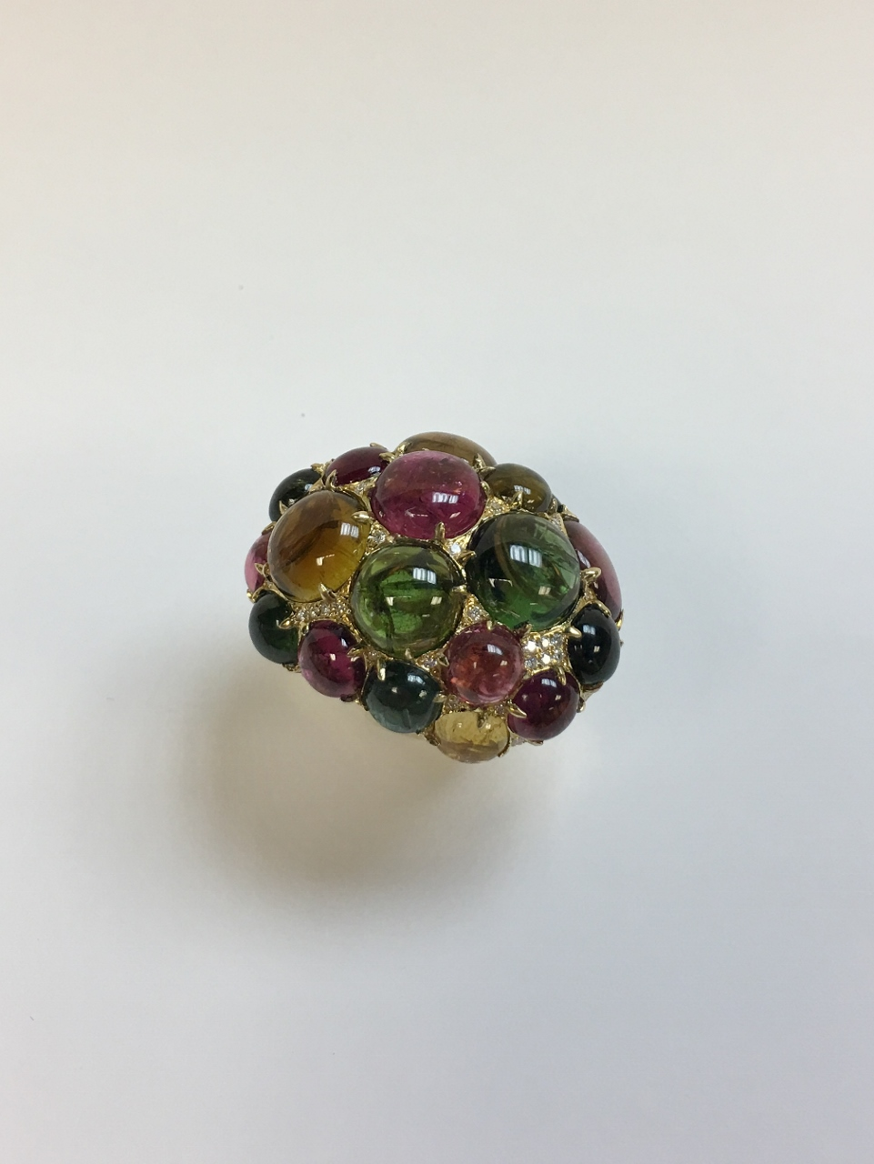 Mixed Color Tourmaline Cocktail Ring