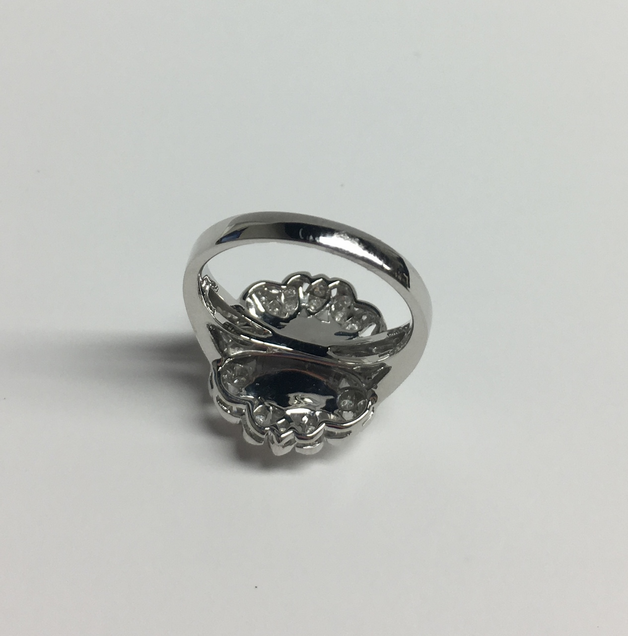 Australian Opal Diamond White Gold Ring