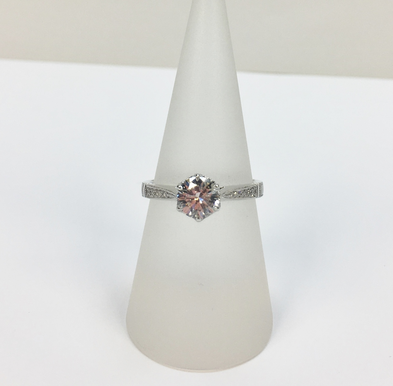 0.85 Carats Solitaire Diamond Ring
