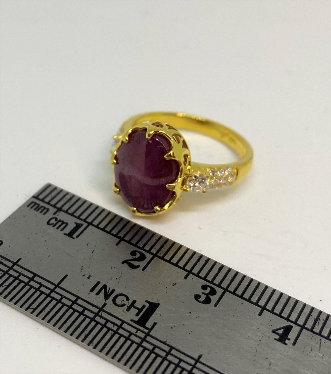 Over 7 Carats Star Ruby Diamond Ring