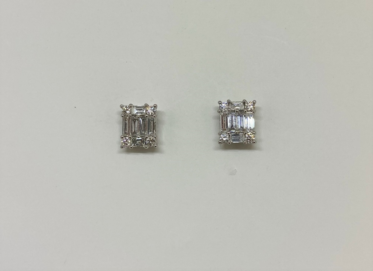 Almost 1 Carat Total Weight Diamond Earrings