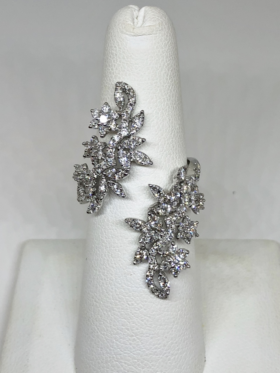 By-Pass Style Diamond Cocktail Ring