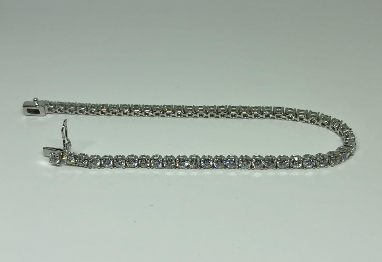 Over 5.5 Carats Diamond Tennis Bracelet