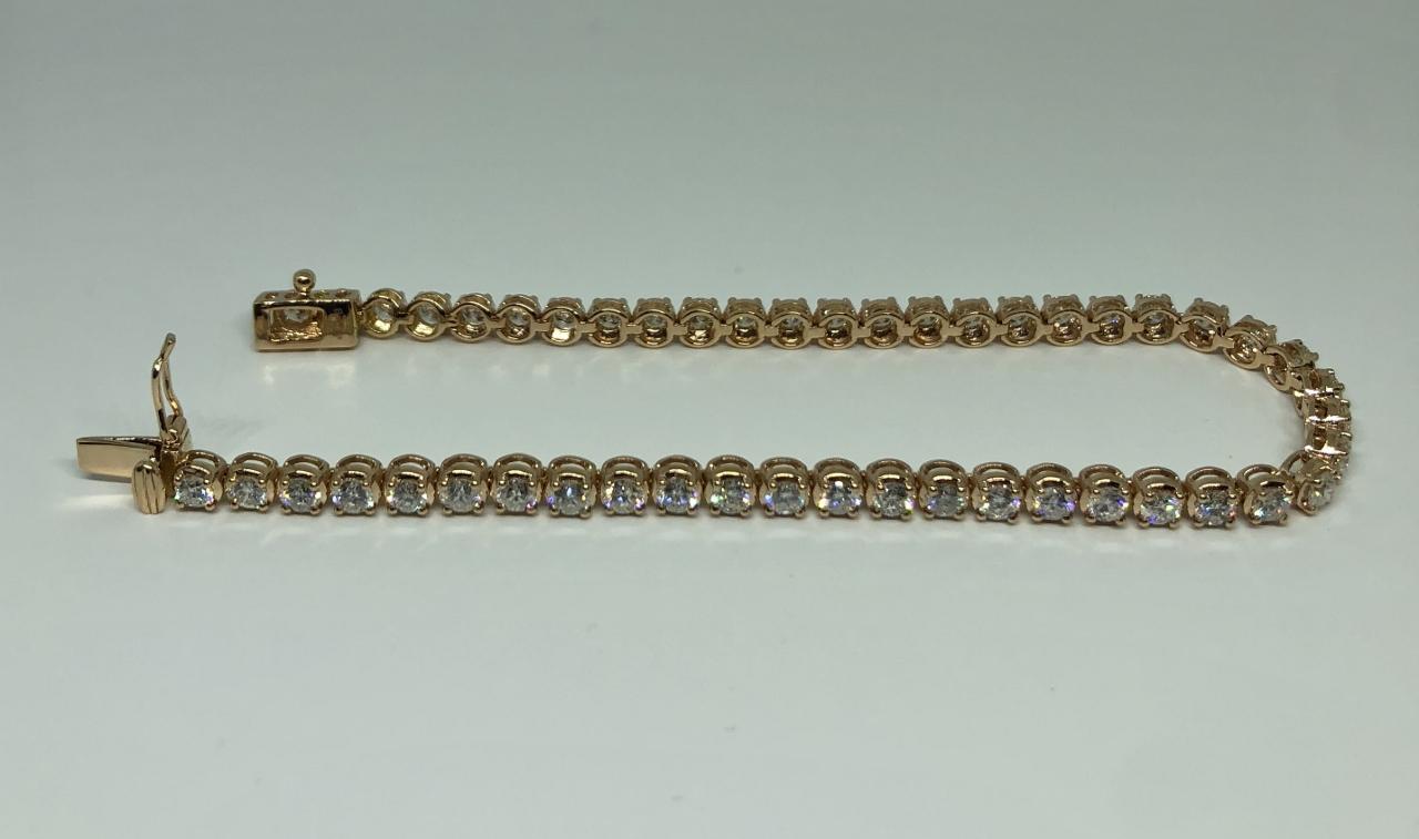 4 Carats Diamond Bracelet In Rose Gold