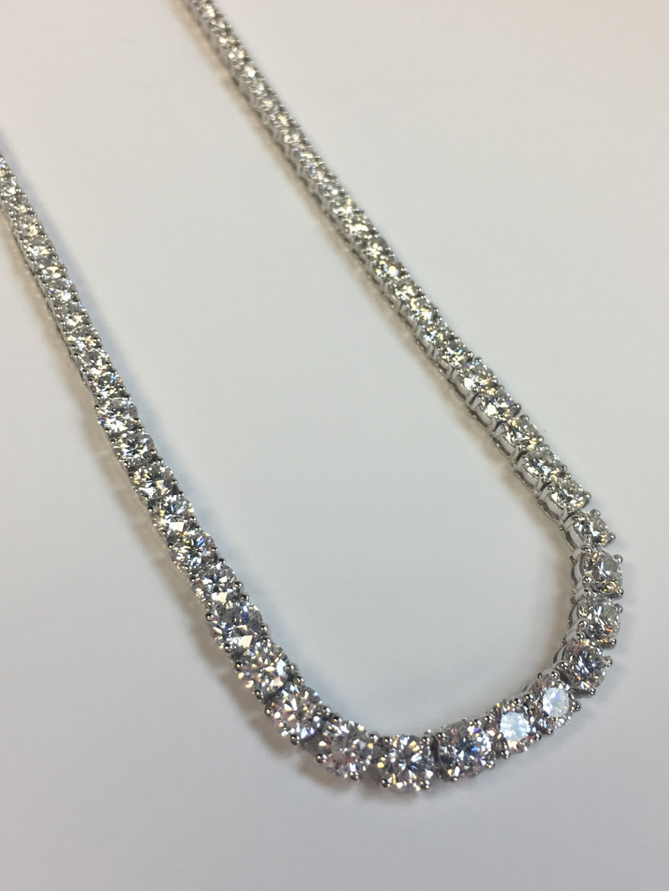 10 Carats Diamond Tennis Necklace