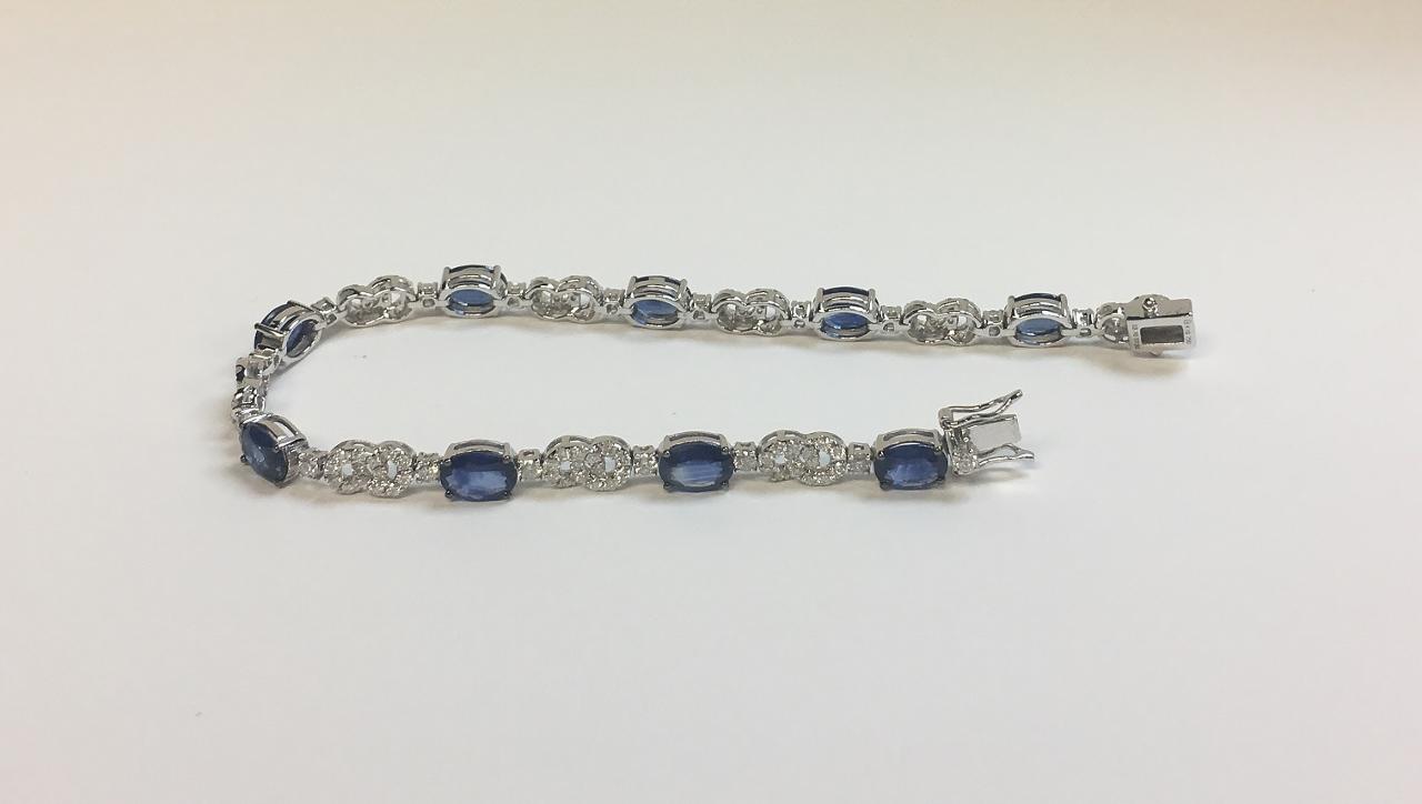 Over 6.5 Carats Sapphire Diamond Bracelet