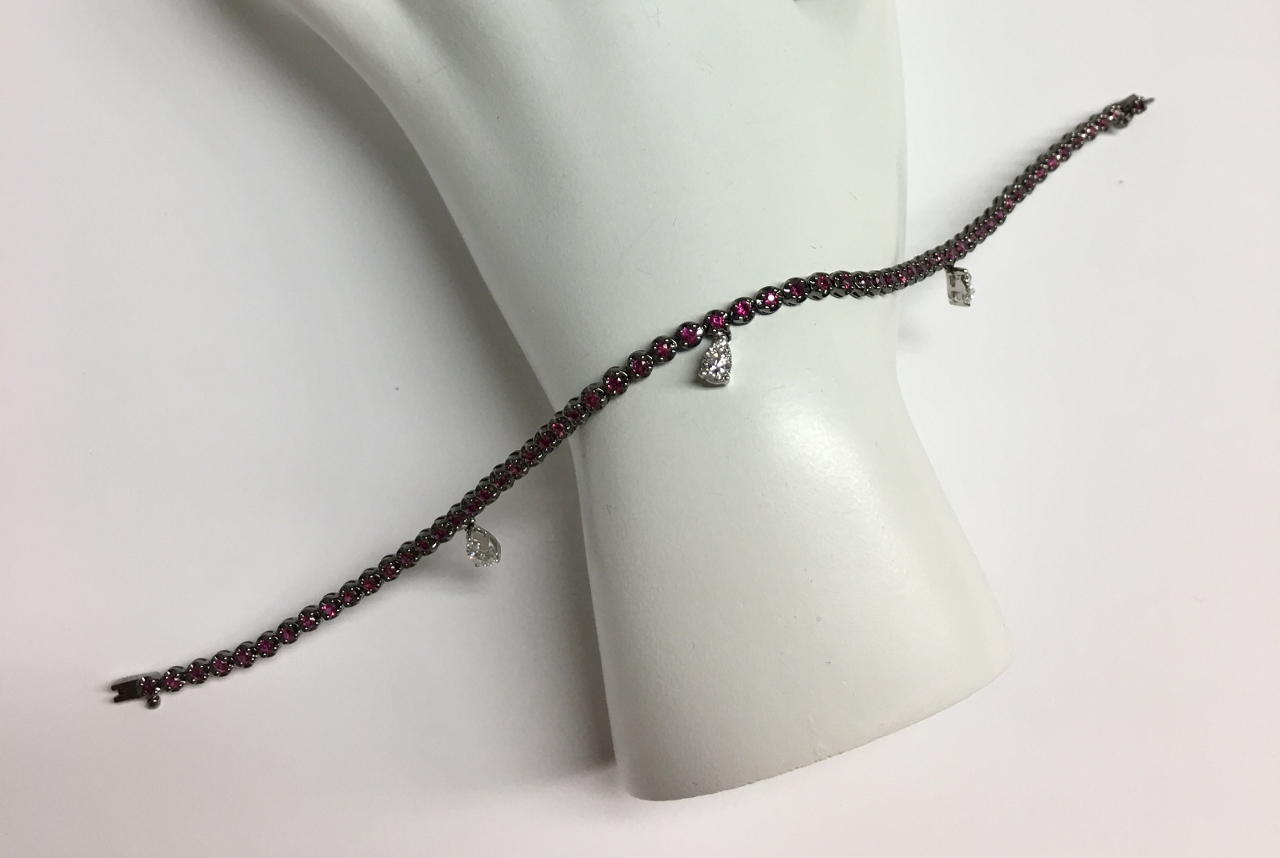 1 Carat Ruby Bracelet