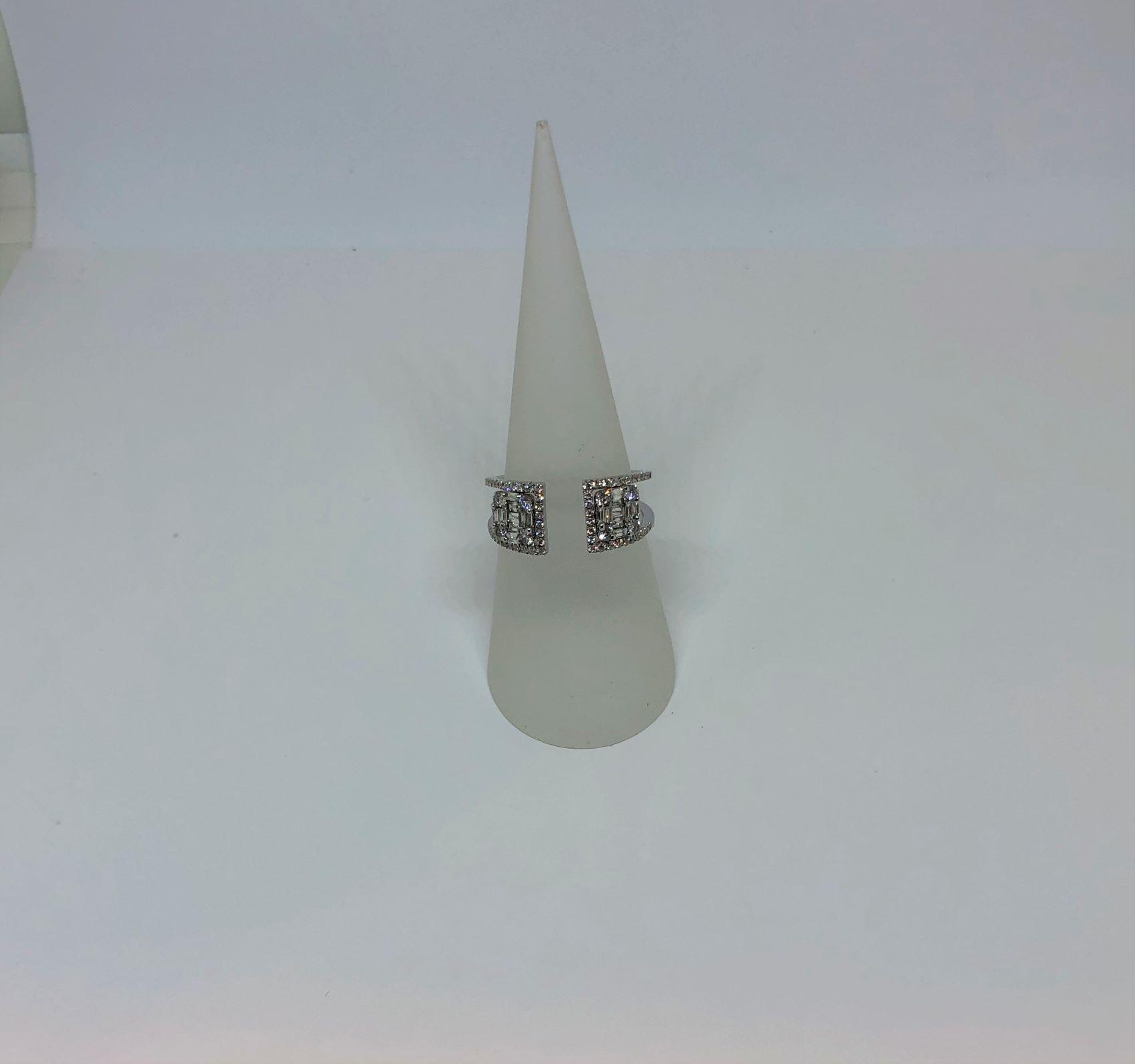 Half Carats Diamond Open Ring