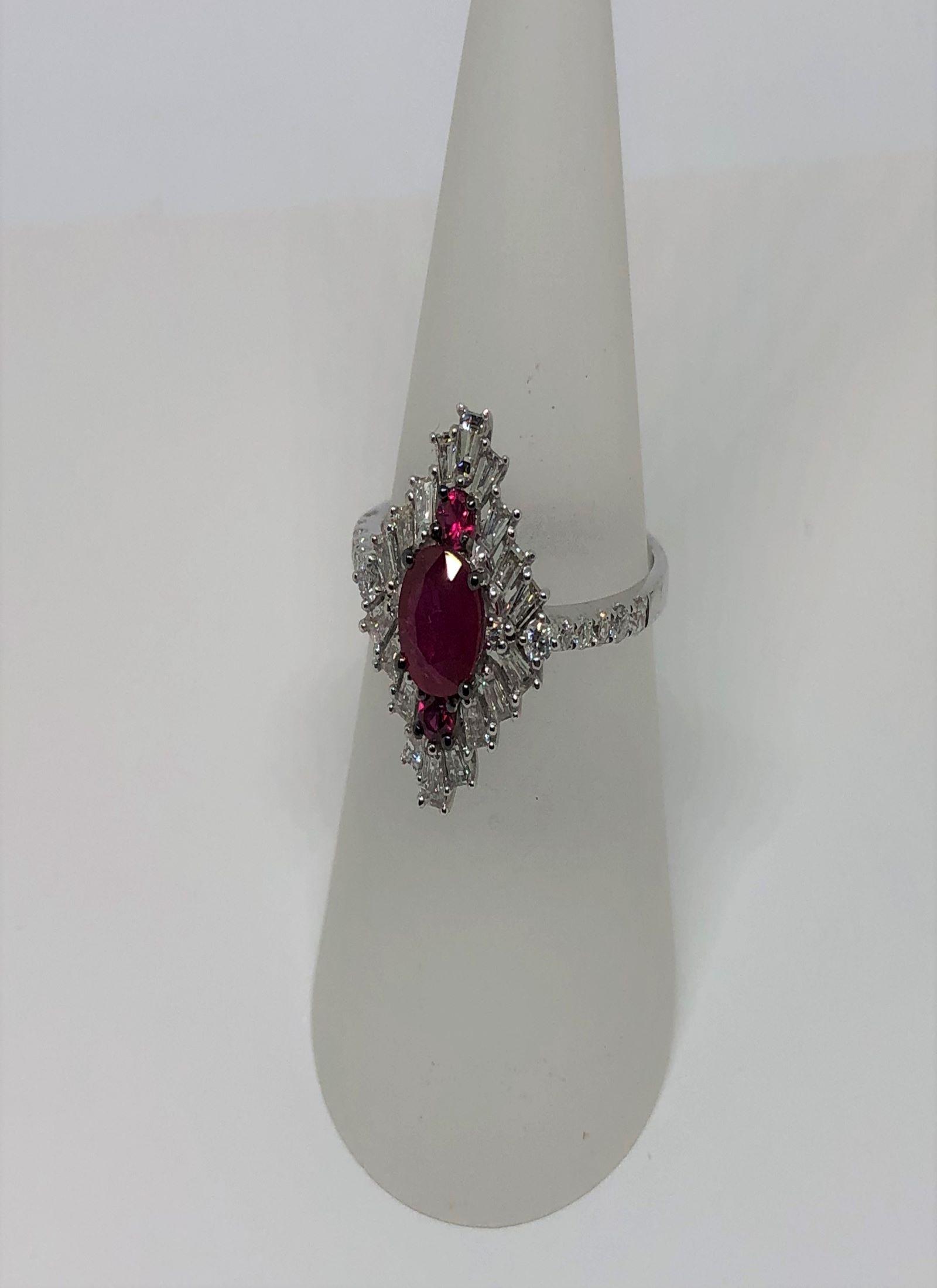 Antique Style Ruby & Diamond Ring
