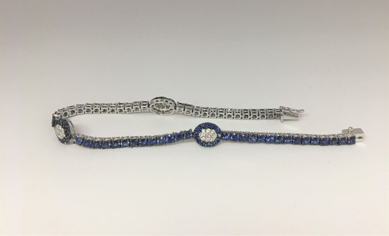 5 Carats Sapphire & Diamond Bracelet