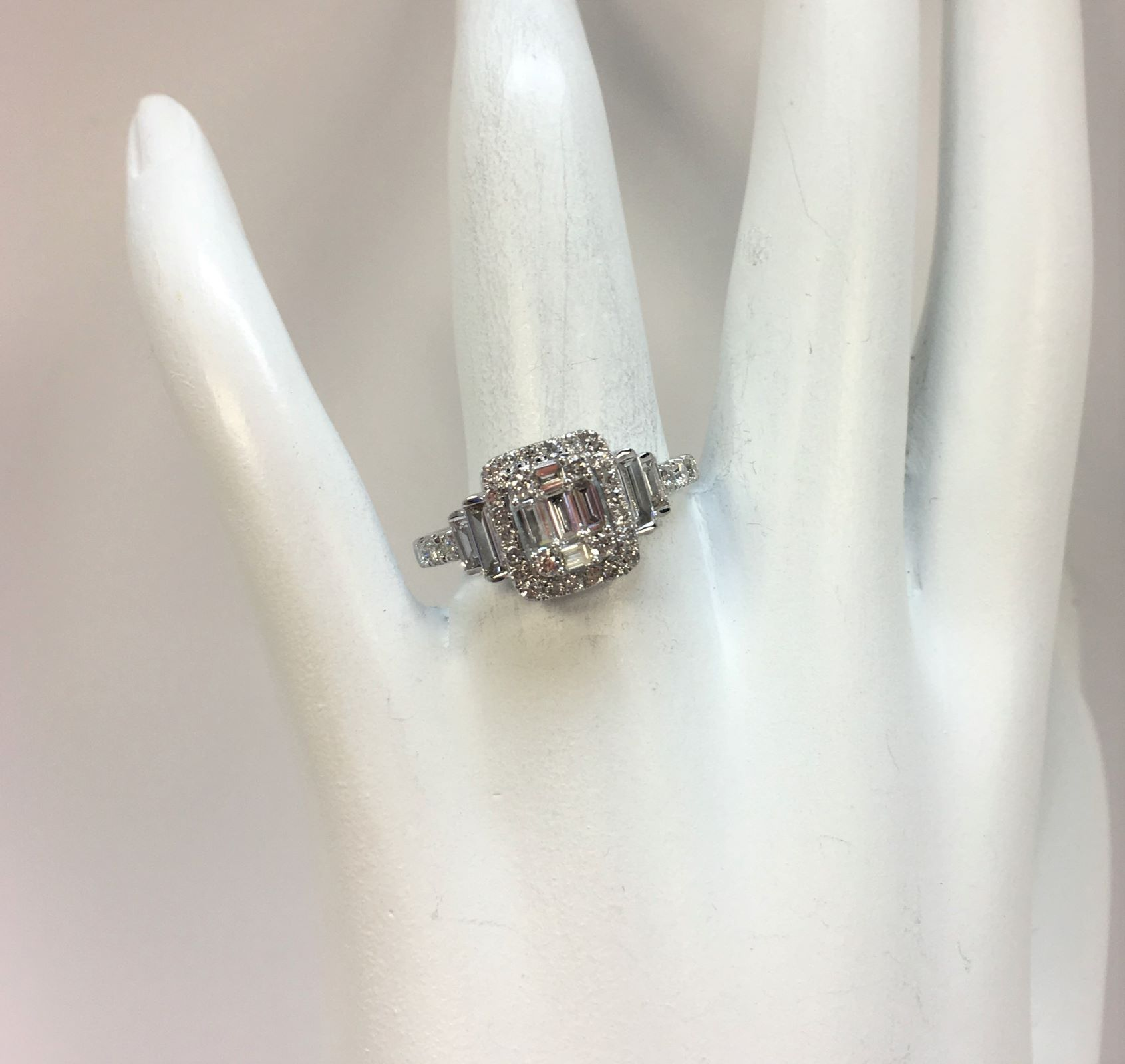 1 Carat Cluster Diamond Ring