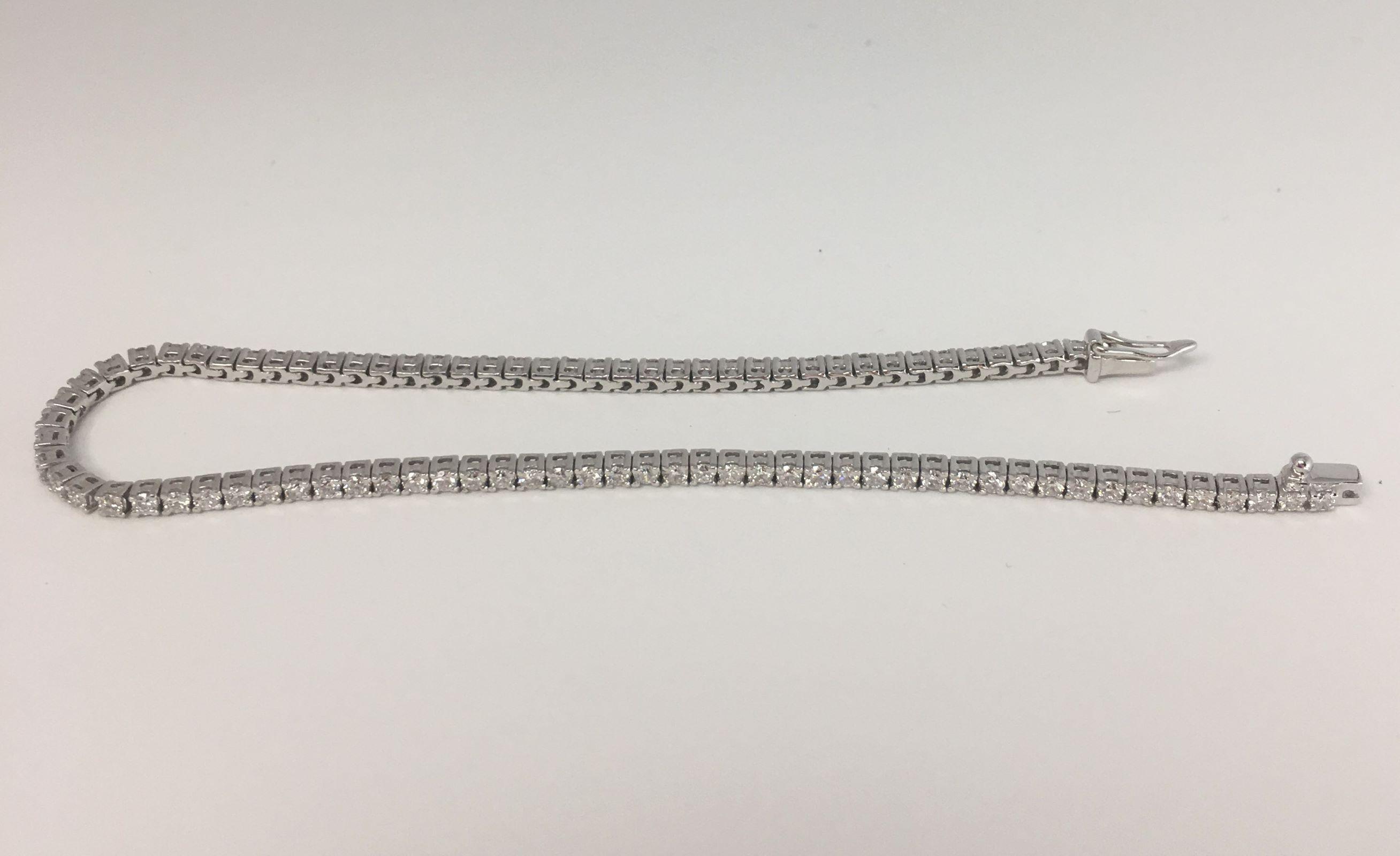 2 Carats Diamond Tennis Skinny Bracelet