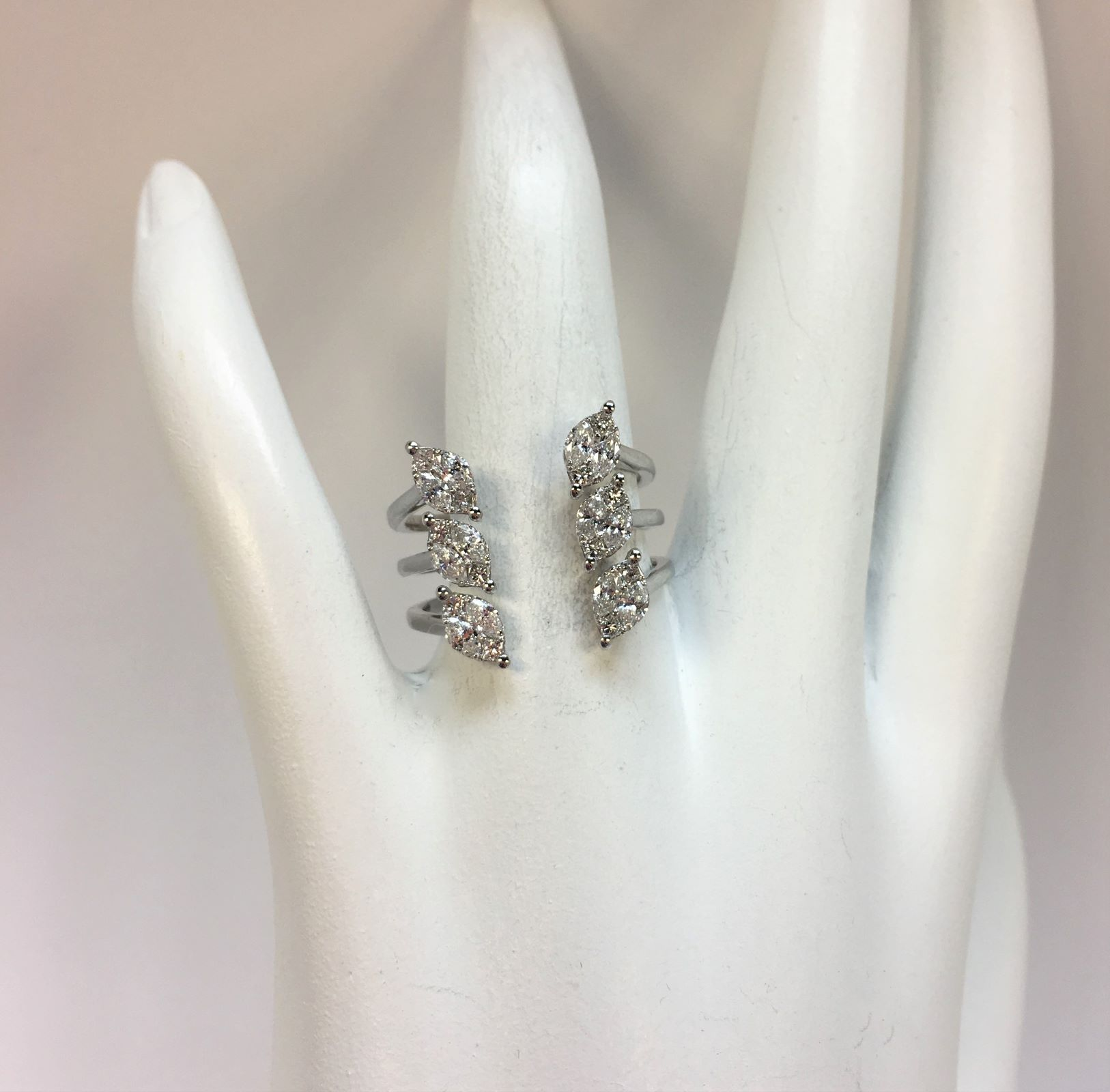 3/4 Total Weight Diamond Open Ring