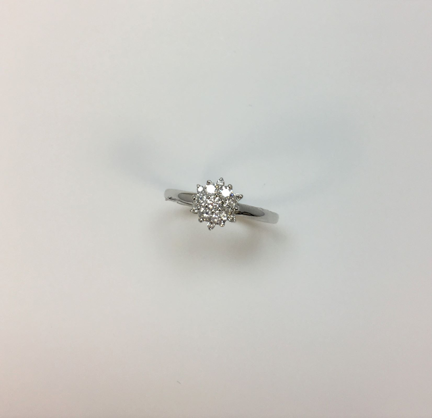 1/3 Carats Total Weight Cluster Diamond Ring