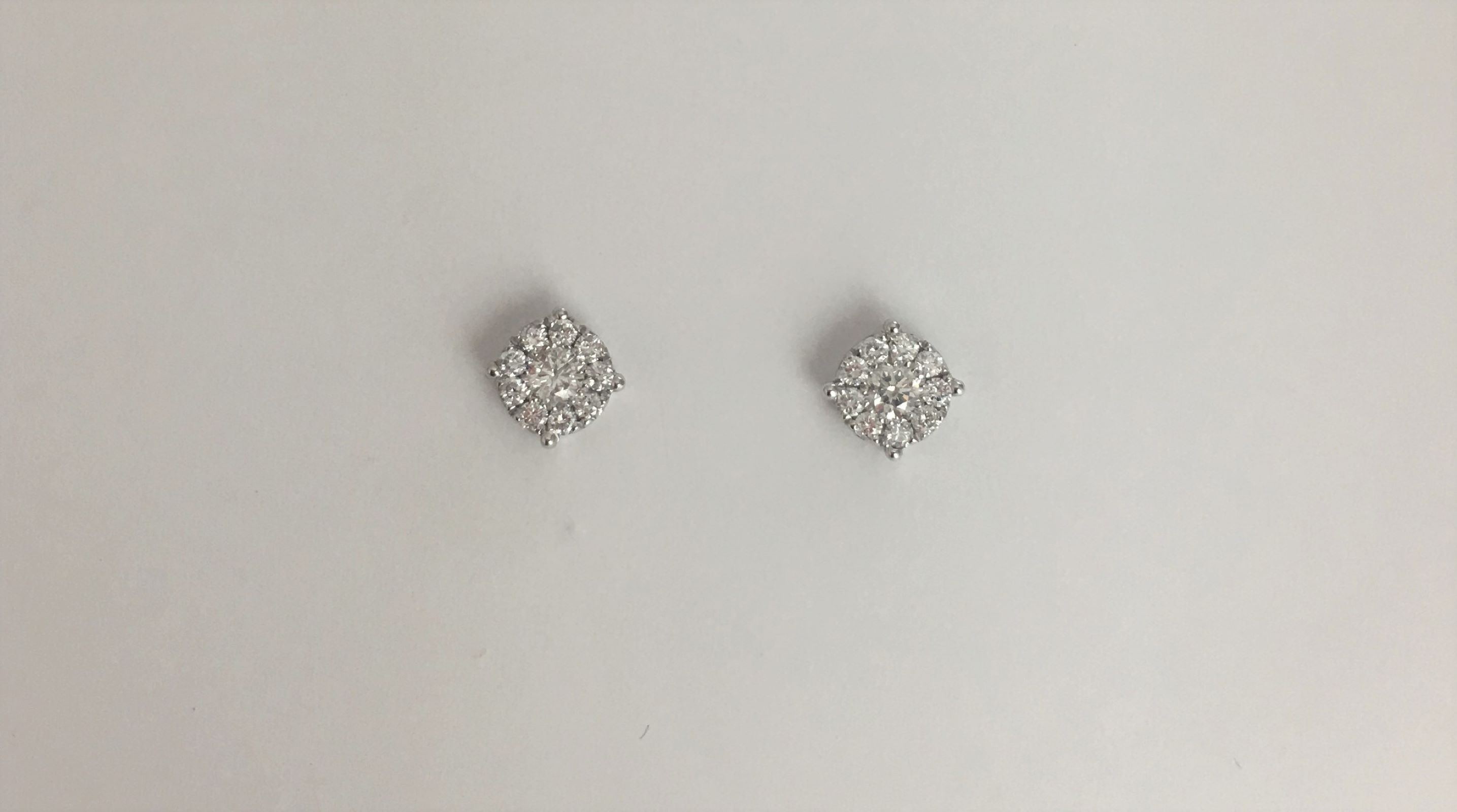 Over Half Carats Diamond Earrings