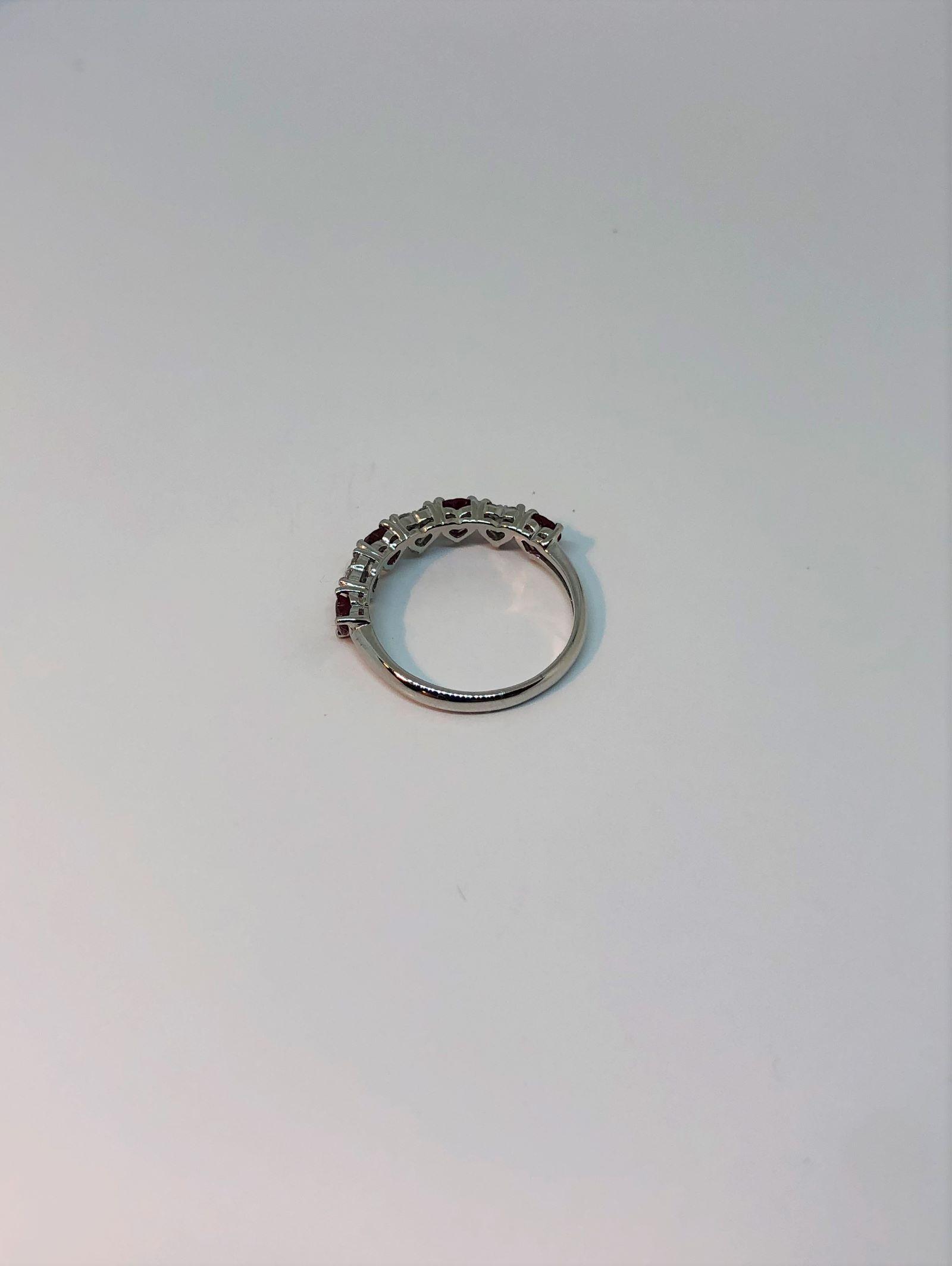1 Carat Ruby Diamond Ring In White Gold