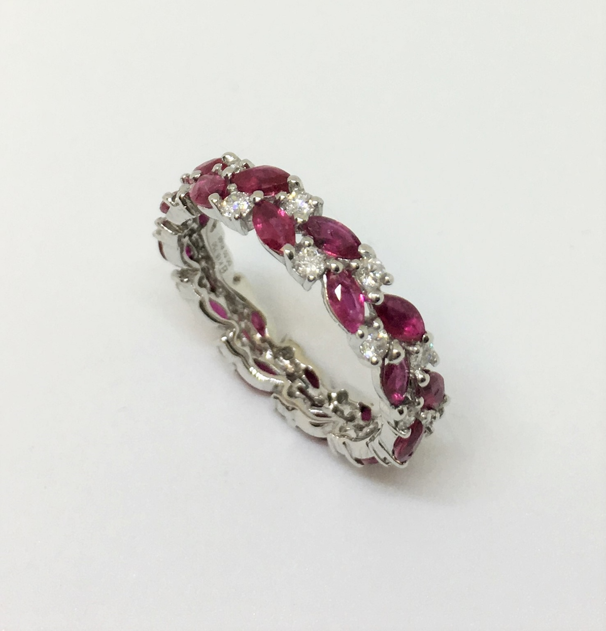 Eternity Ruby Diamond White Gold Band