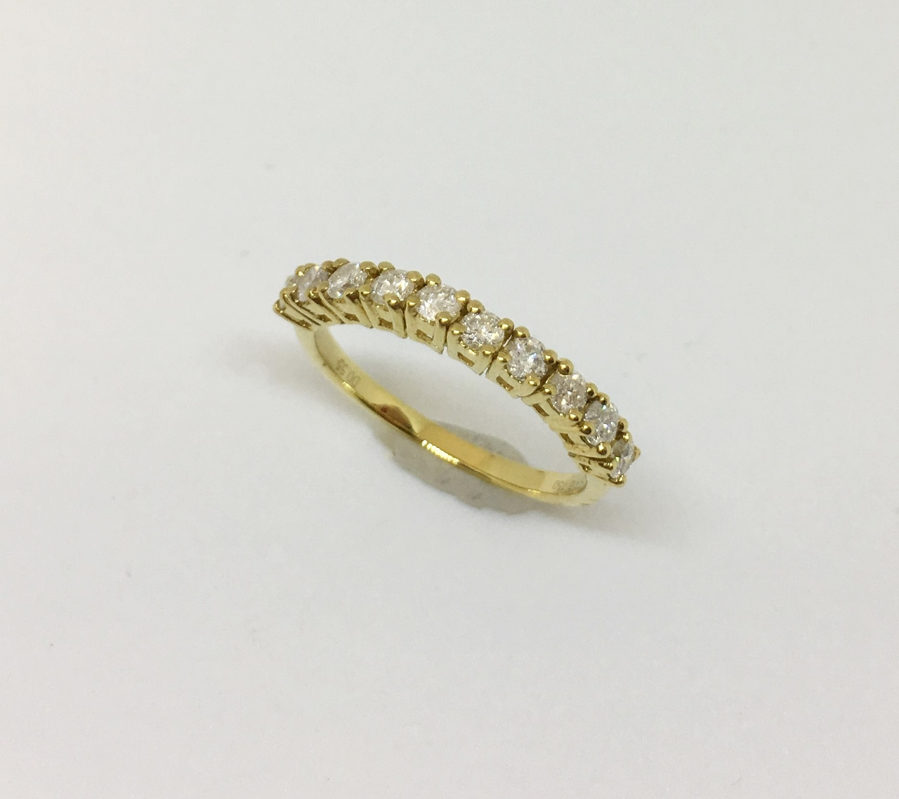 Half Carats Yellow Gold Diamond Band
