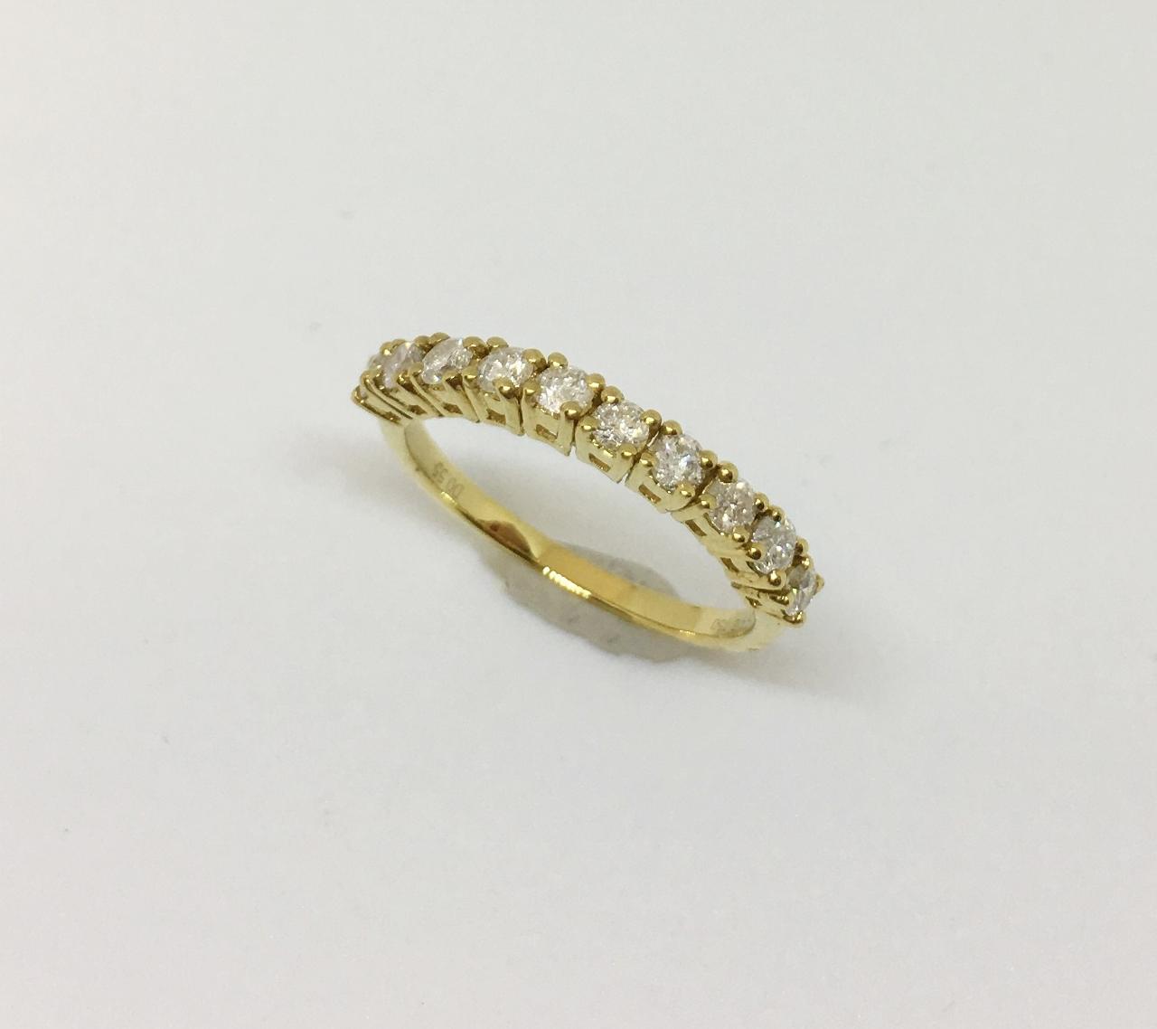 Half Carats Yellow Gold Diamond Band
