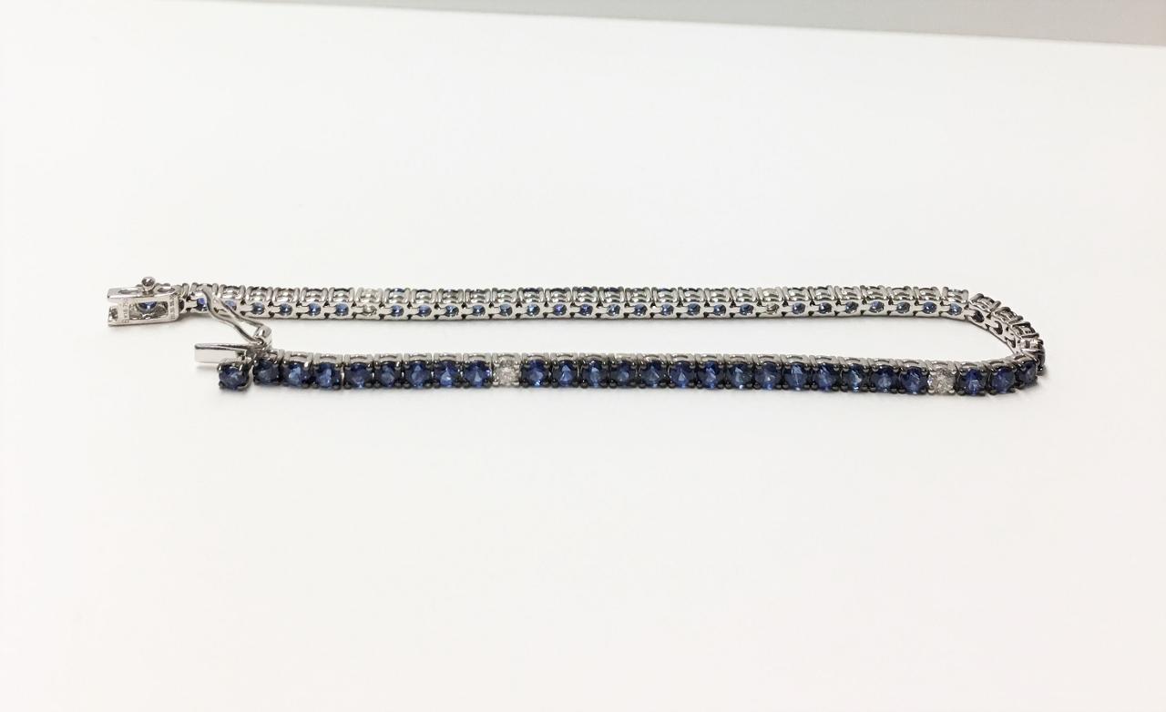 Over 5 Carats Sapphire Diamond Bracelet