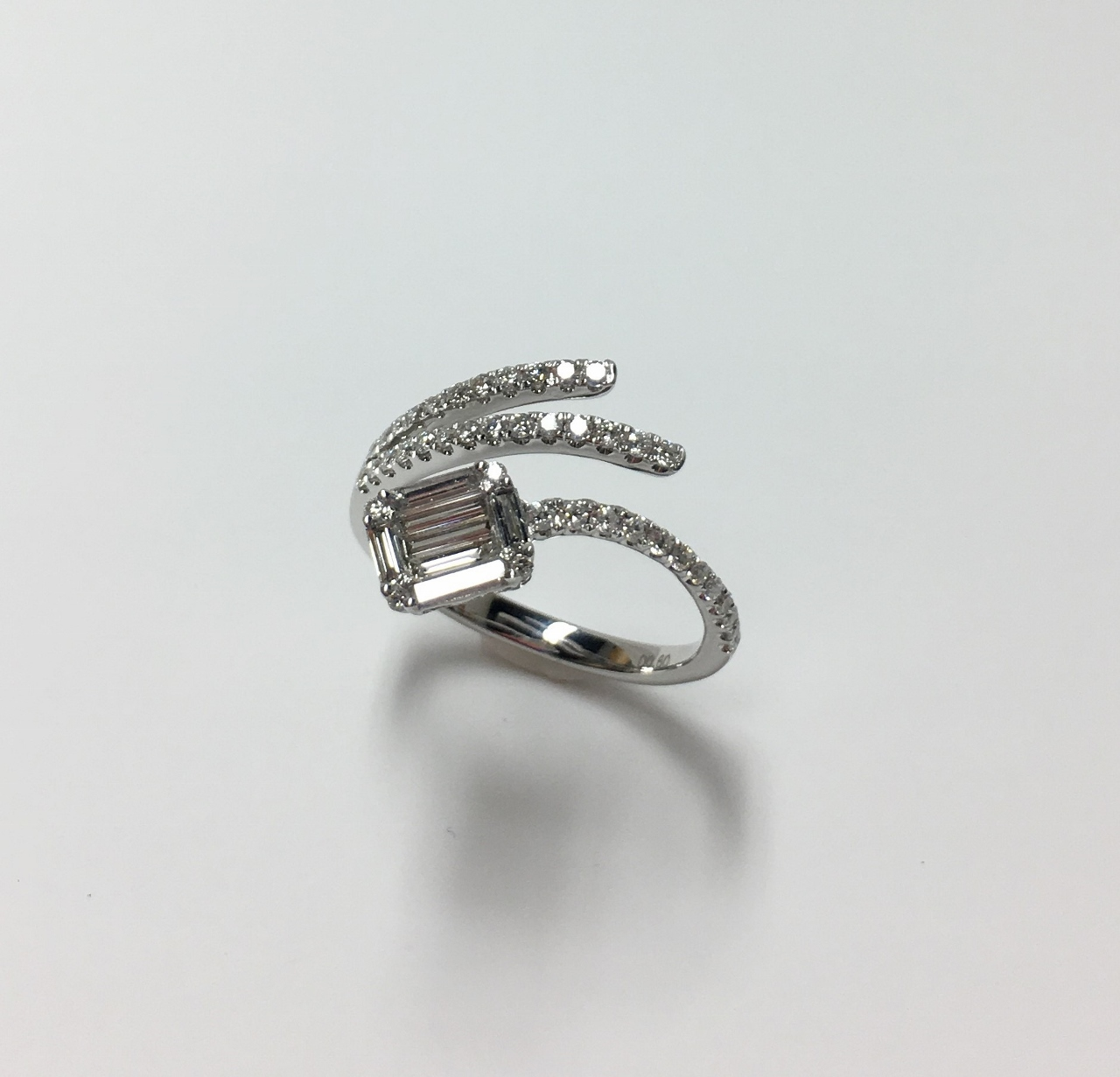 Over Half Carats Total Weight Diamond Ring
