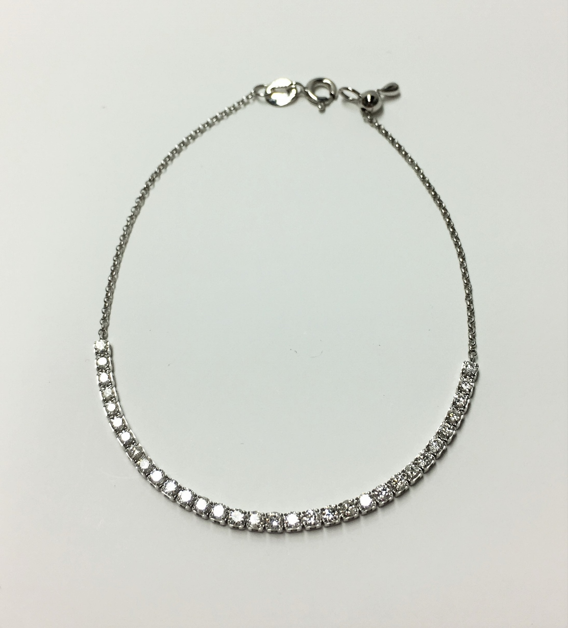 Almost 1 Carat Total Weight White Gold Diamond Bracelet