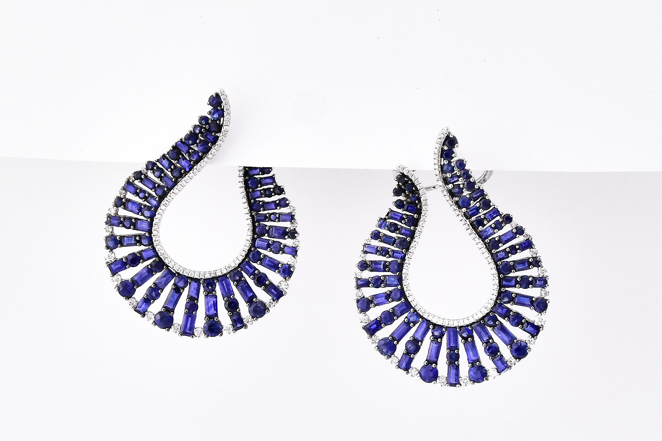 Over 12 Carats Total Weight Sapphire Earrings