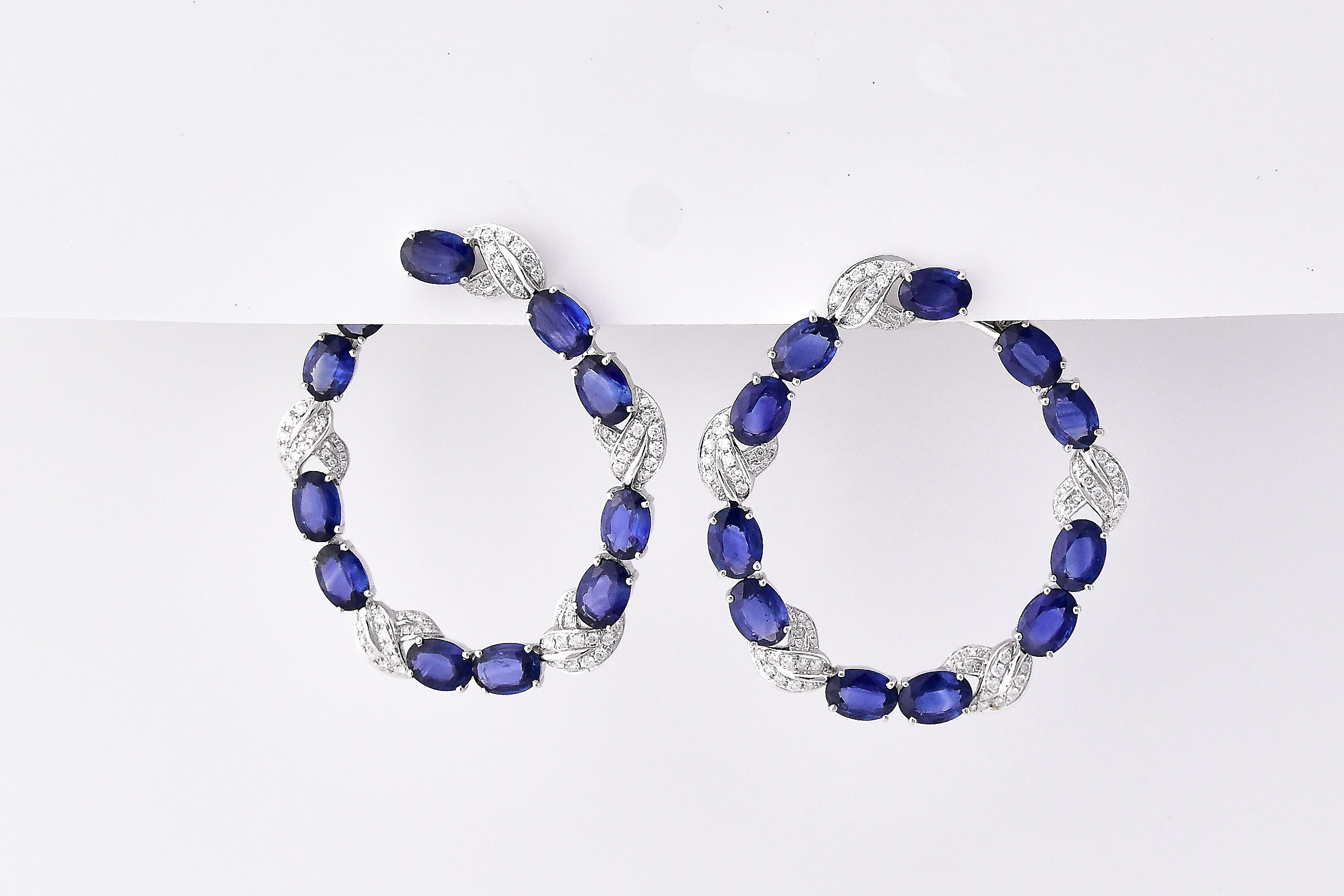 Almost 18.0 Carats Total Weight Sapphire Earrings