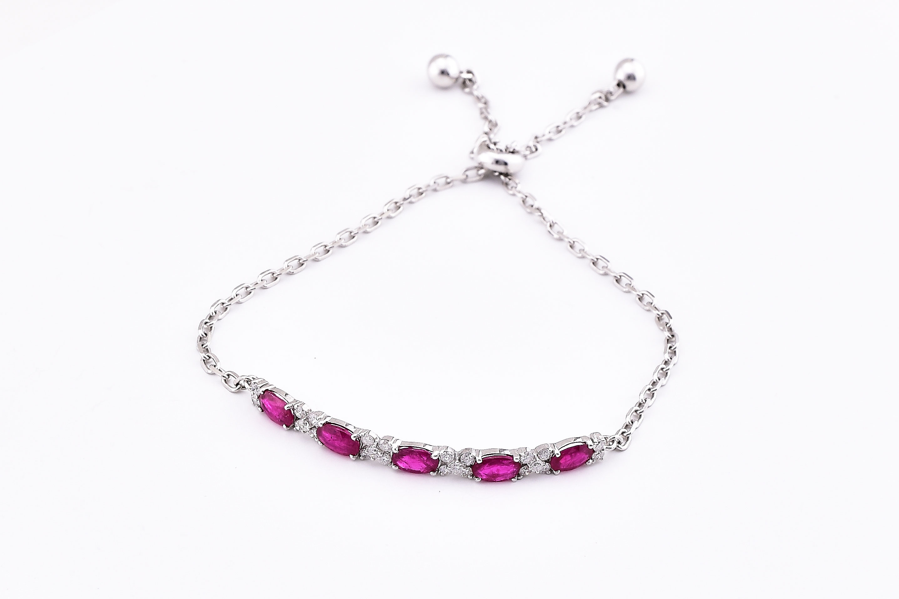 Over 2 Carats Ruby Bracelet (Length Adjustable)