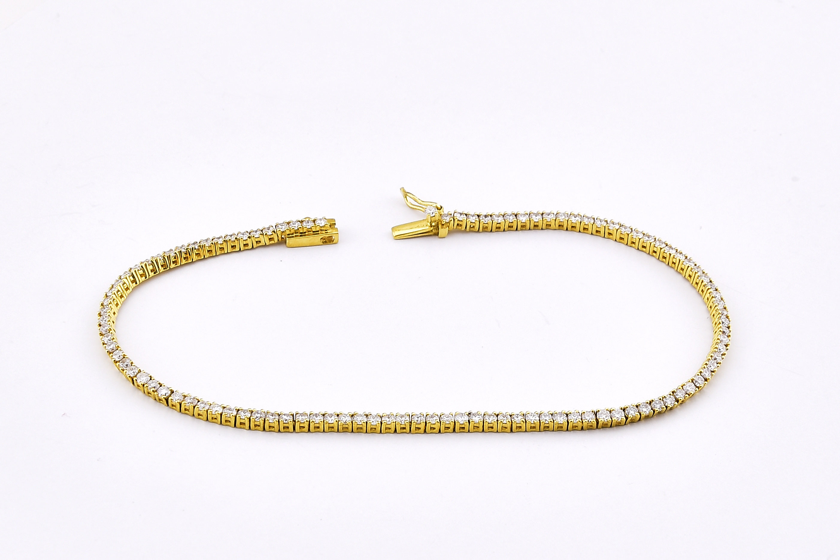 Almost 2 Carats Total Weight Diamond Bracelet