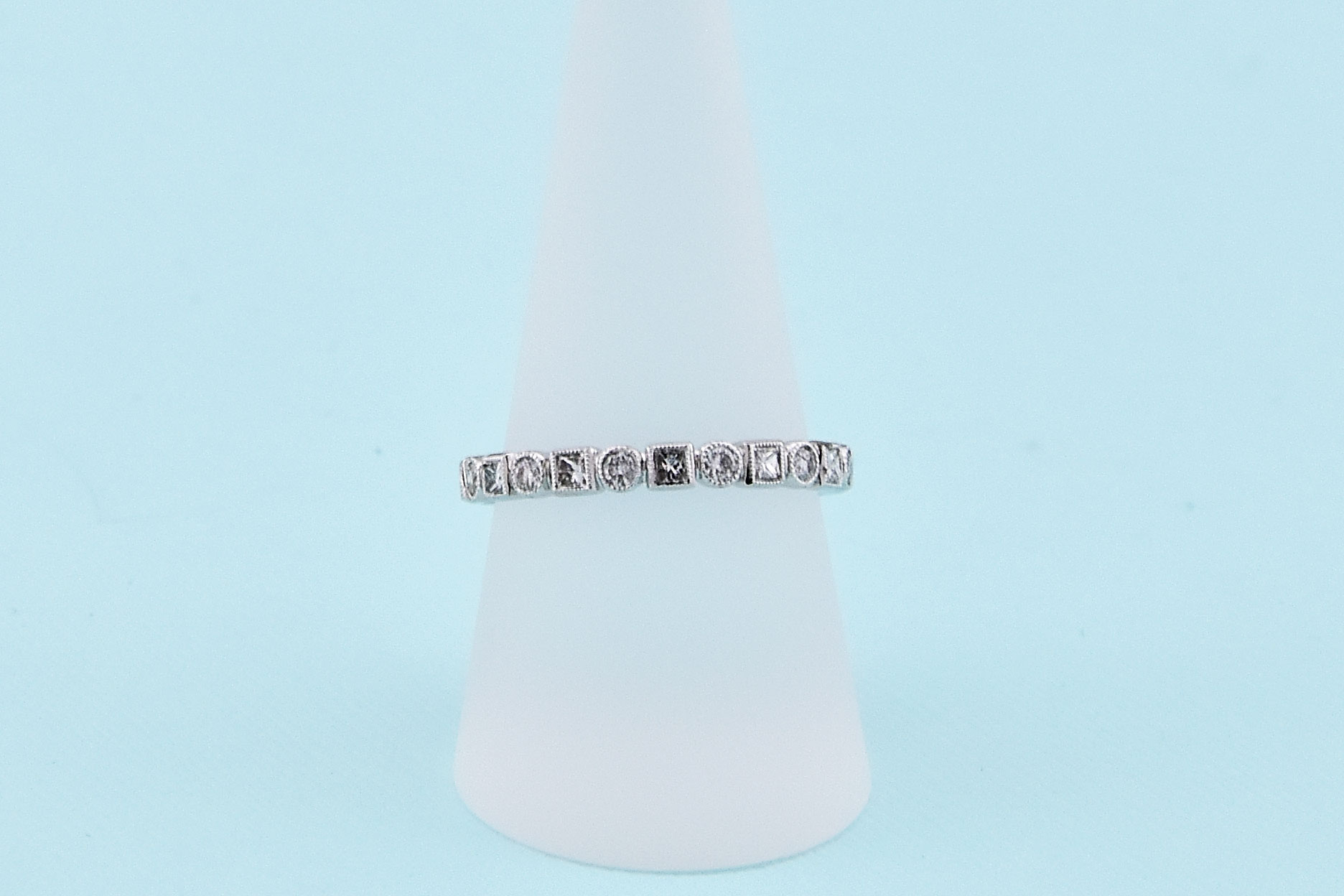 Over Three Quarter Carats Total Weight Diamond Eternity Band
